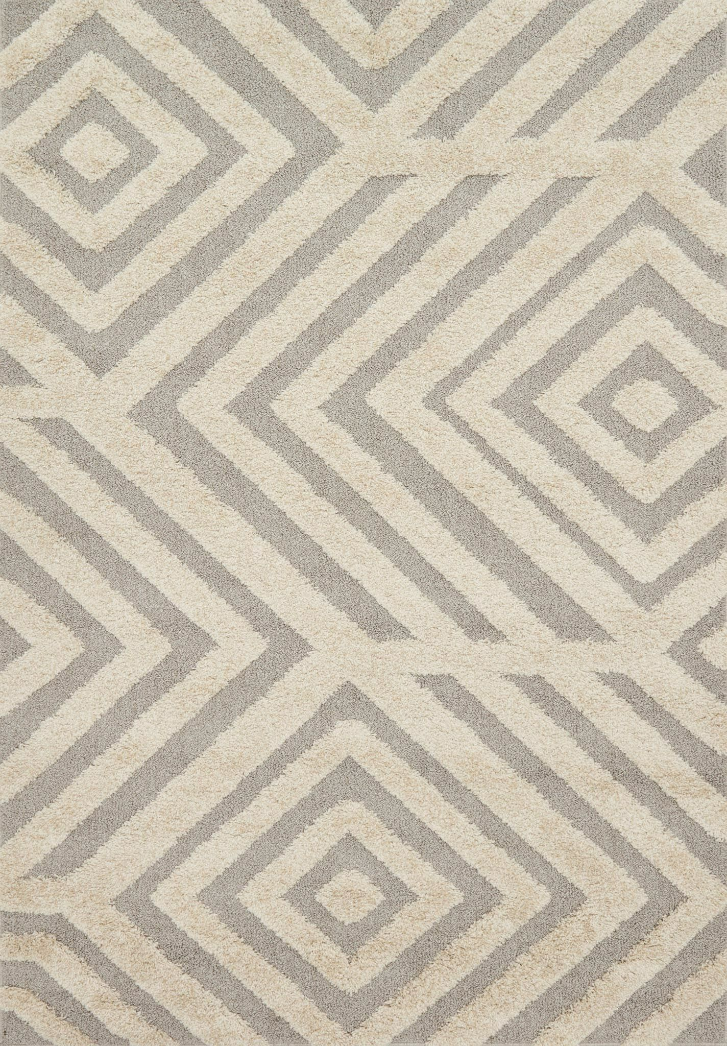 Bigham Sand/Gray Area Rug Rug Size: Rectangle 5'3
