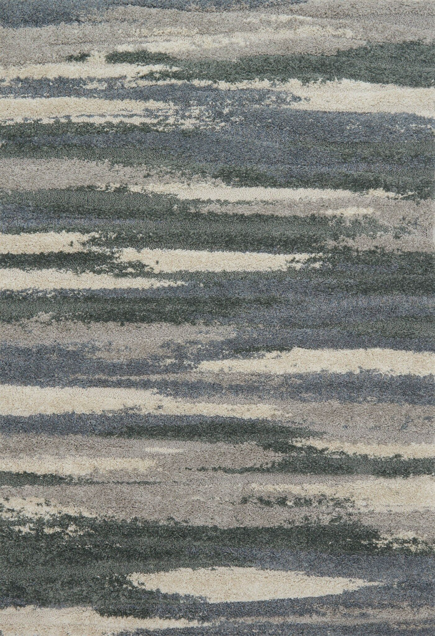 Bigham Gray/Beige Area Rug Rug Size: Rectangle 5'3