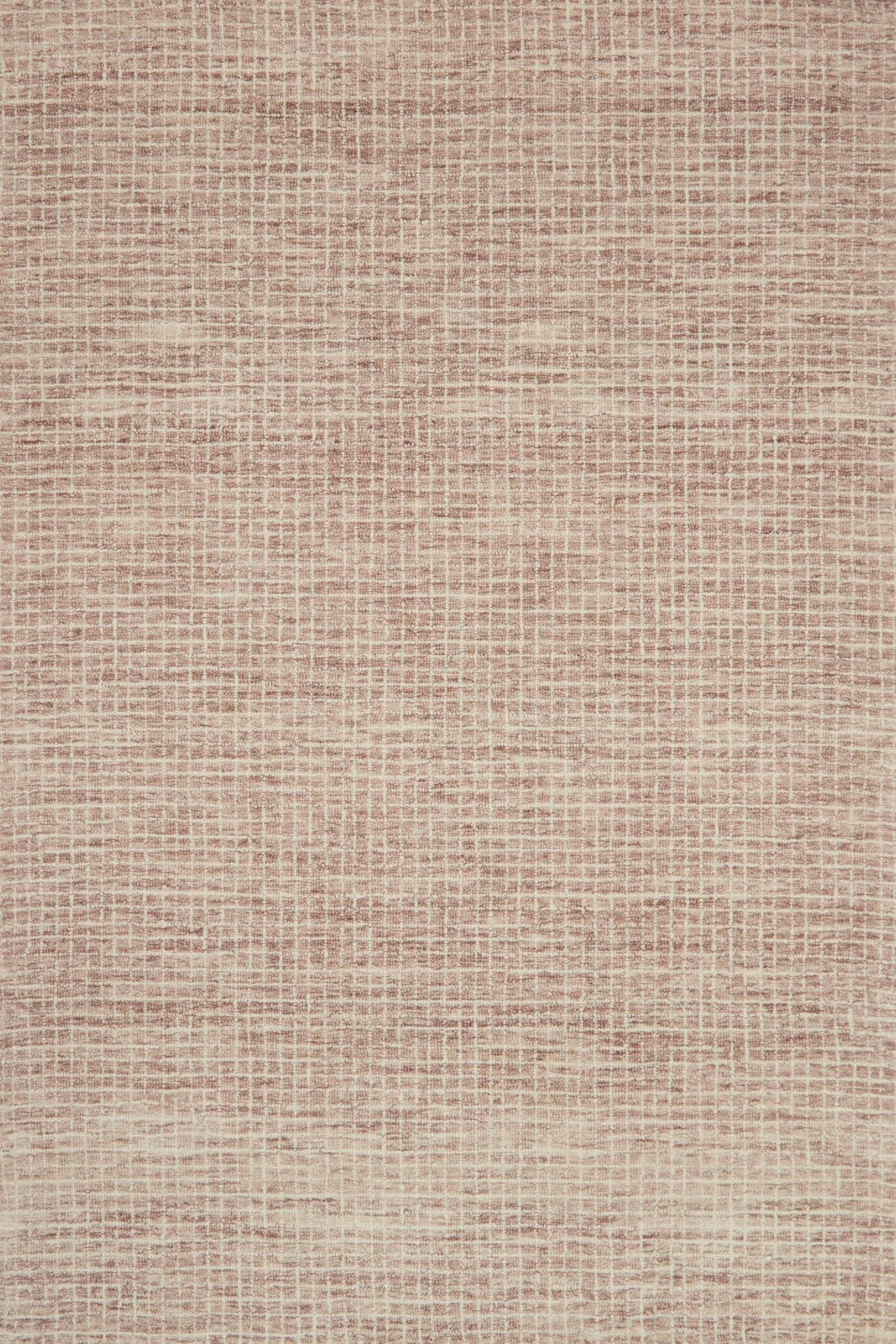 Bourque Hand-Hooked Wool Blush Area Rug Rug Size: Rectangle 7'9