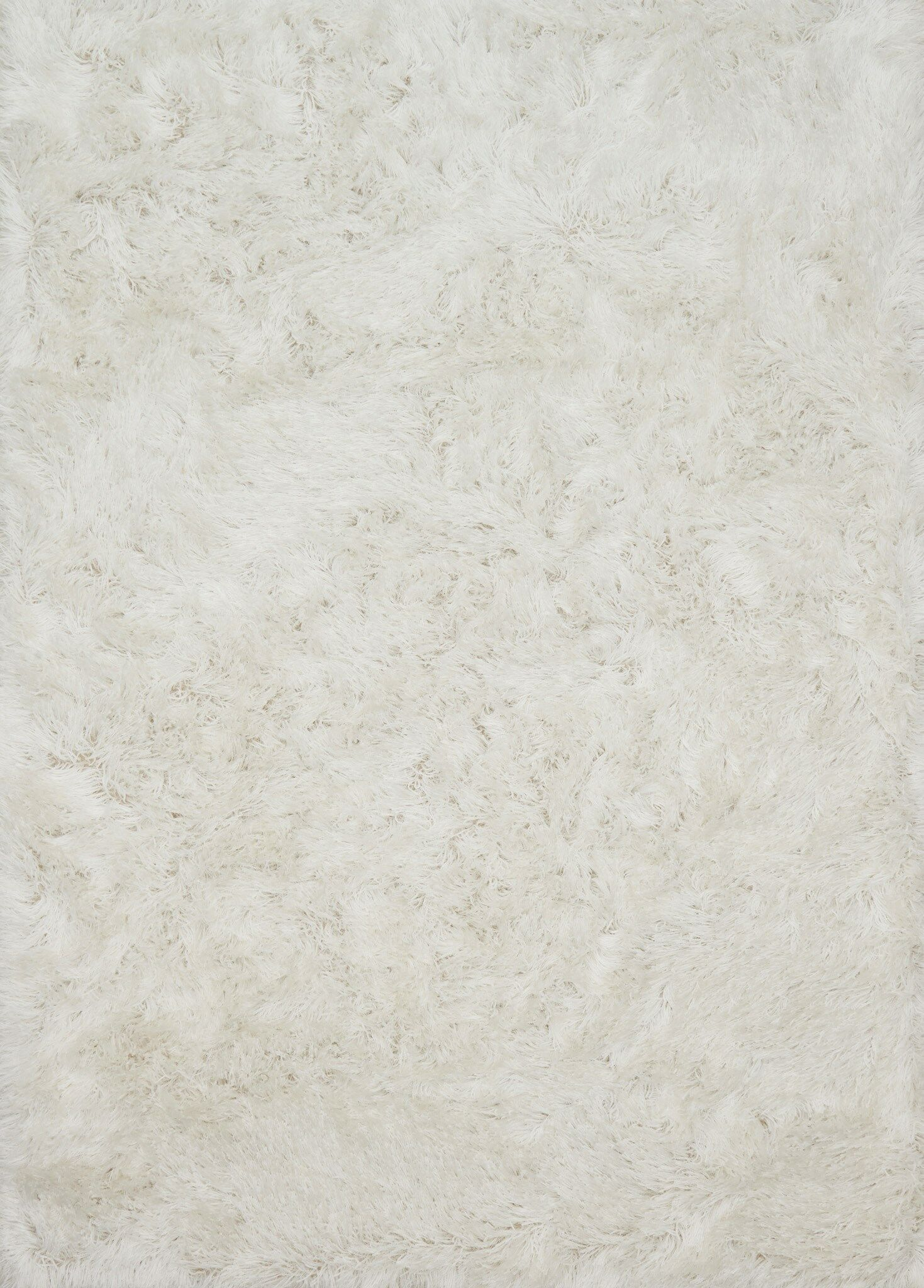 Elliana Shag Hand-Tufted White Area Rug Rug Size: Rectangle 2'3