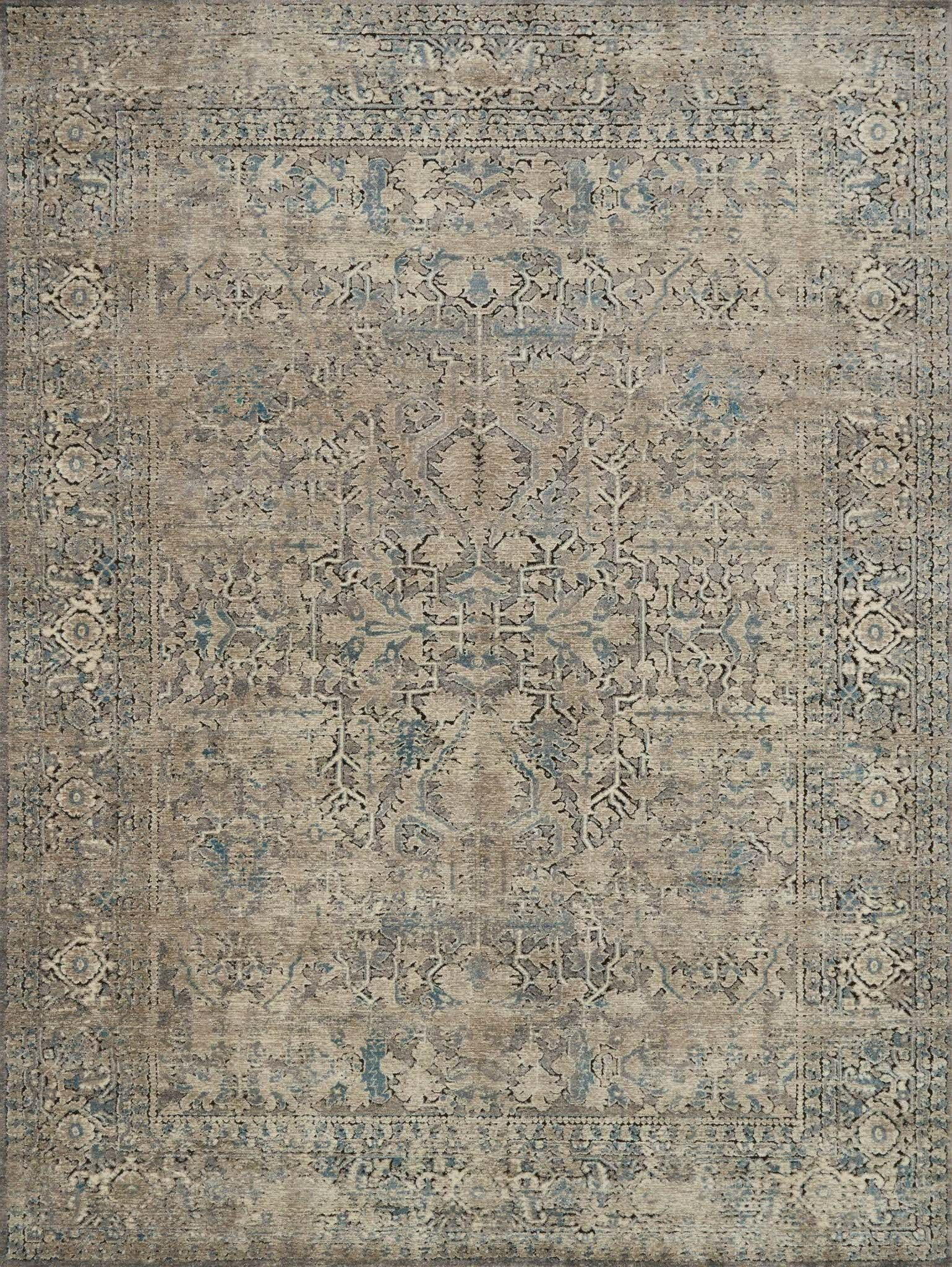 Diez Gray/Stone Area Rug Rug Size: Rectangle 3'7