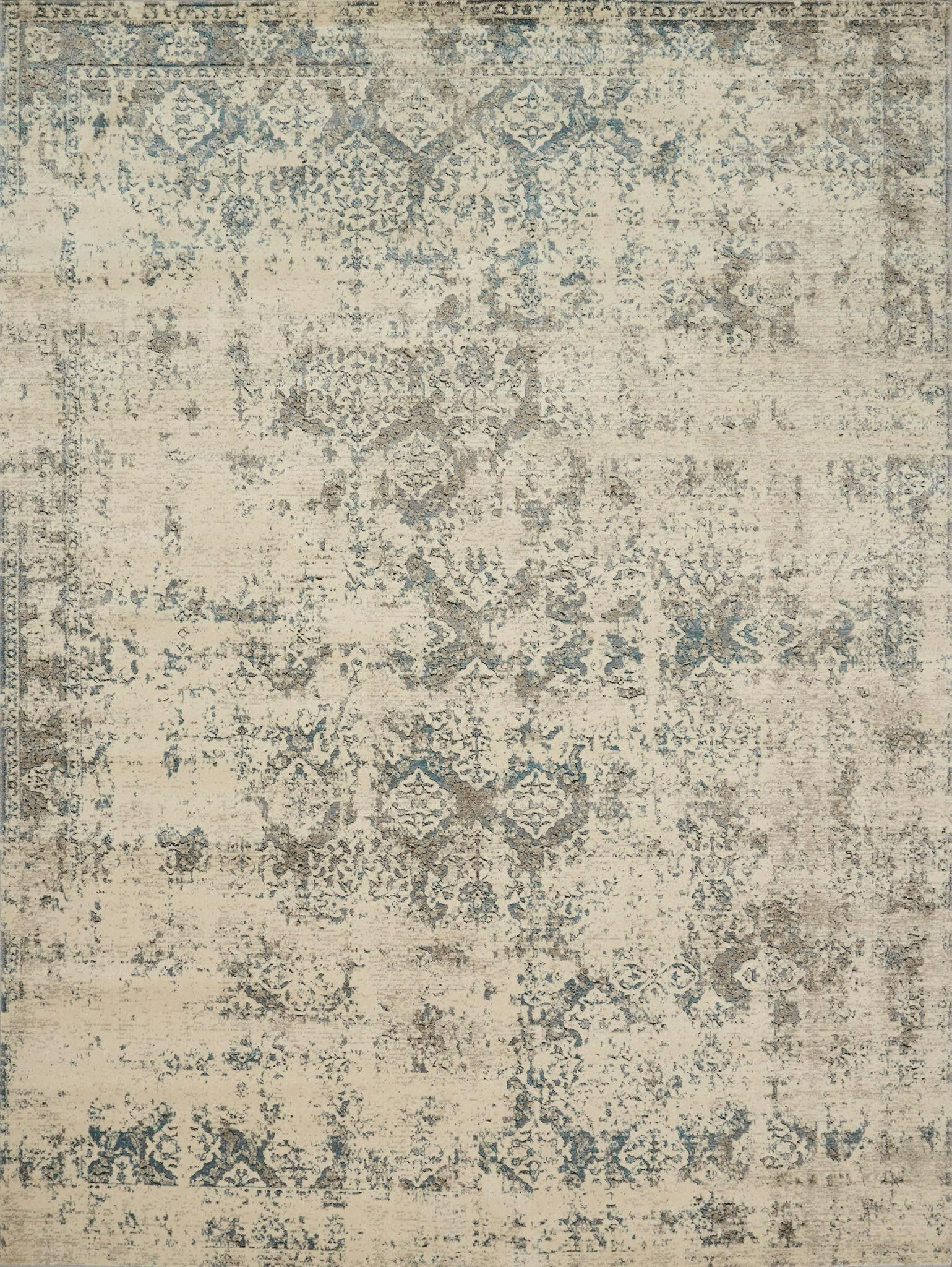 Diez Ivory/Gray Area Rug Rug Size: Rectangle 12' x 15'