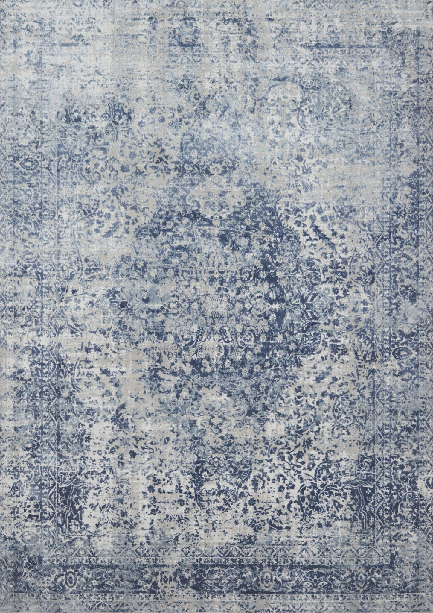 Jent Blue/Stone Area Rug Rug Size: Rectangle 7'10