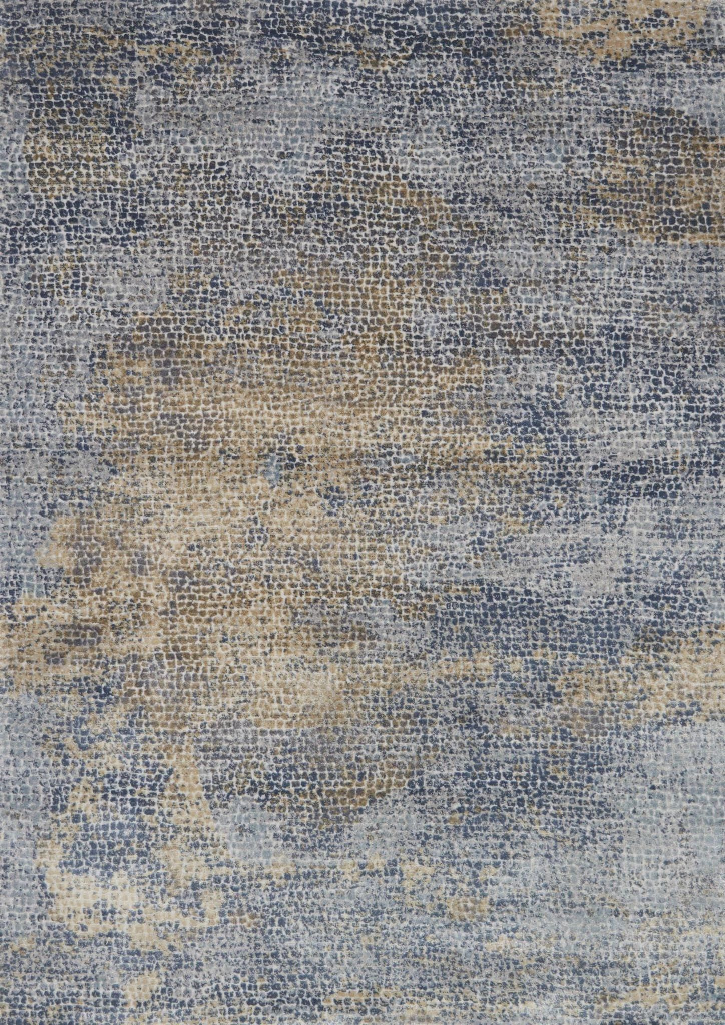 Bouton Ocean/Gold Area Rug Rug Size: Rectangle 12' x 15'