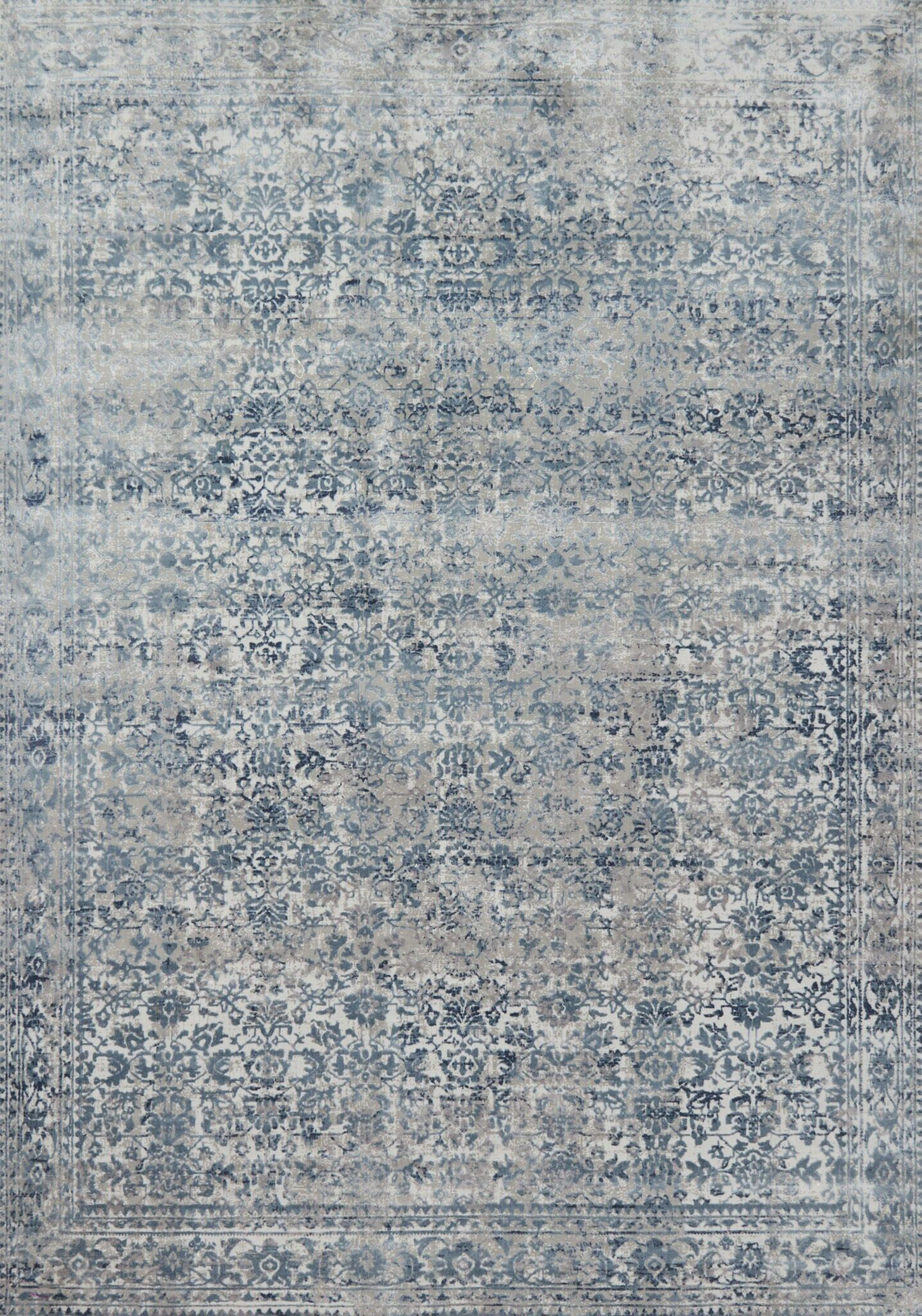 Jepsen Sky/Stone Area Rug Rug Size: Rectangle 9'6