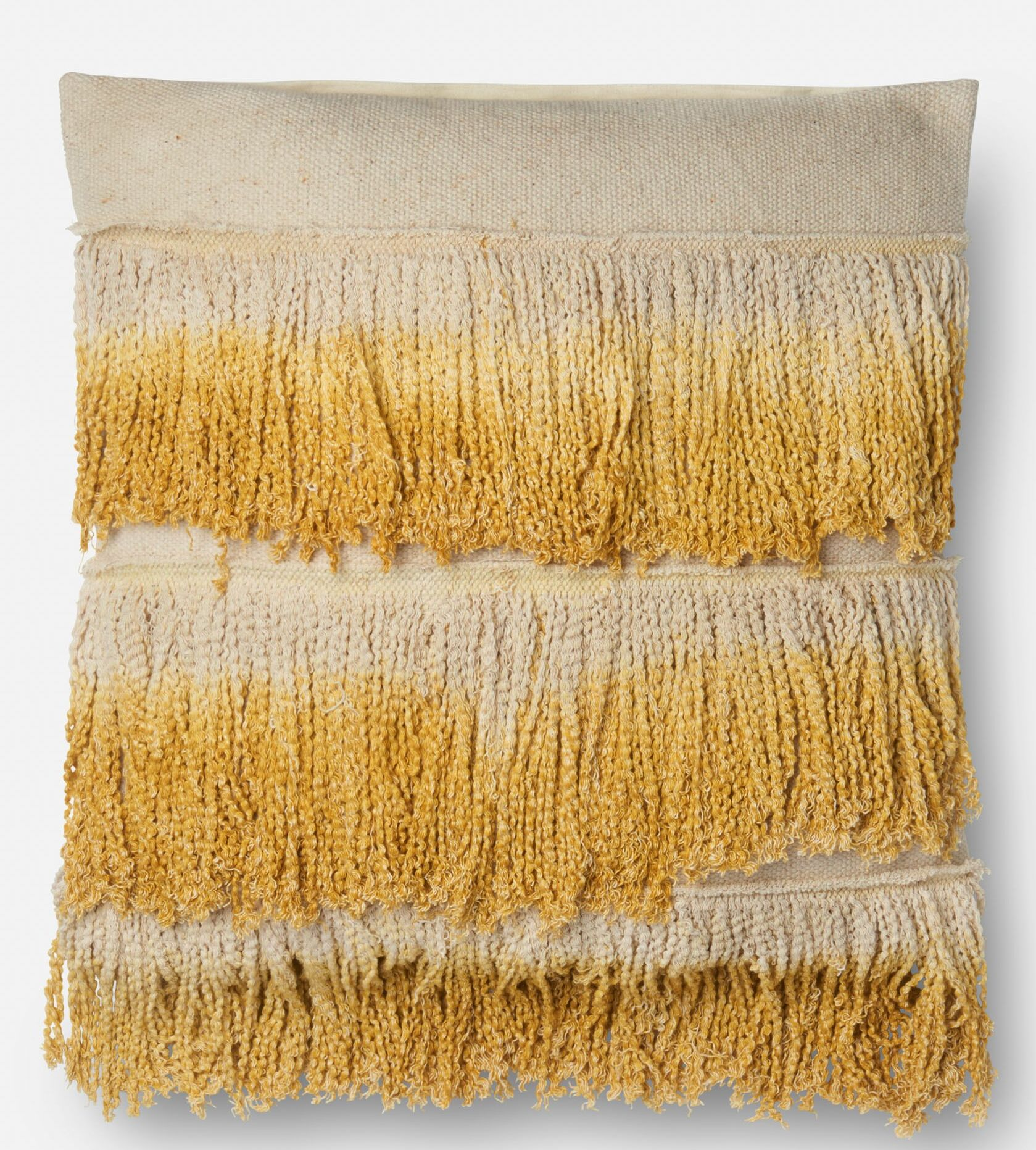 Cambra Cotton Throw Pillow Fill Material: Down/Feather, Color: Gold/ Ivory, Type: Pillow