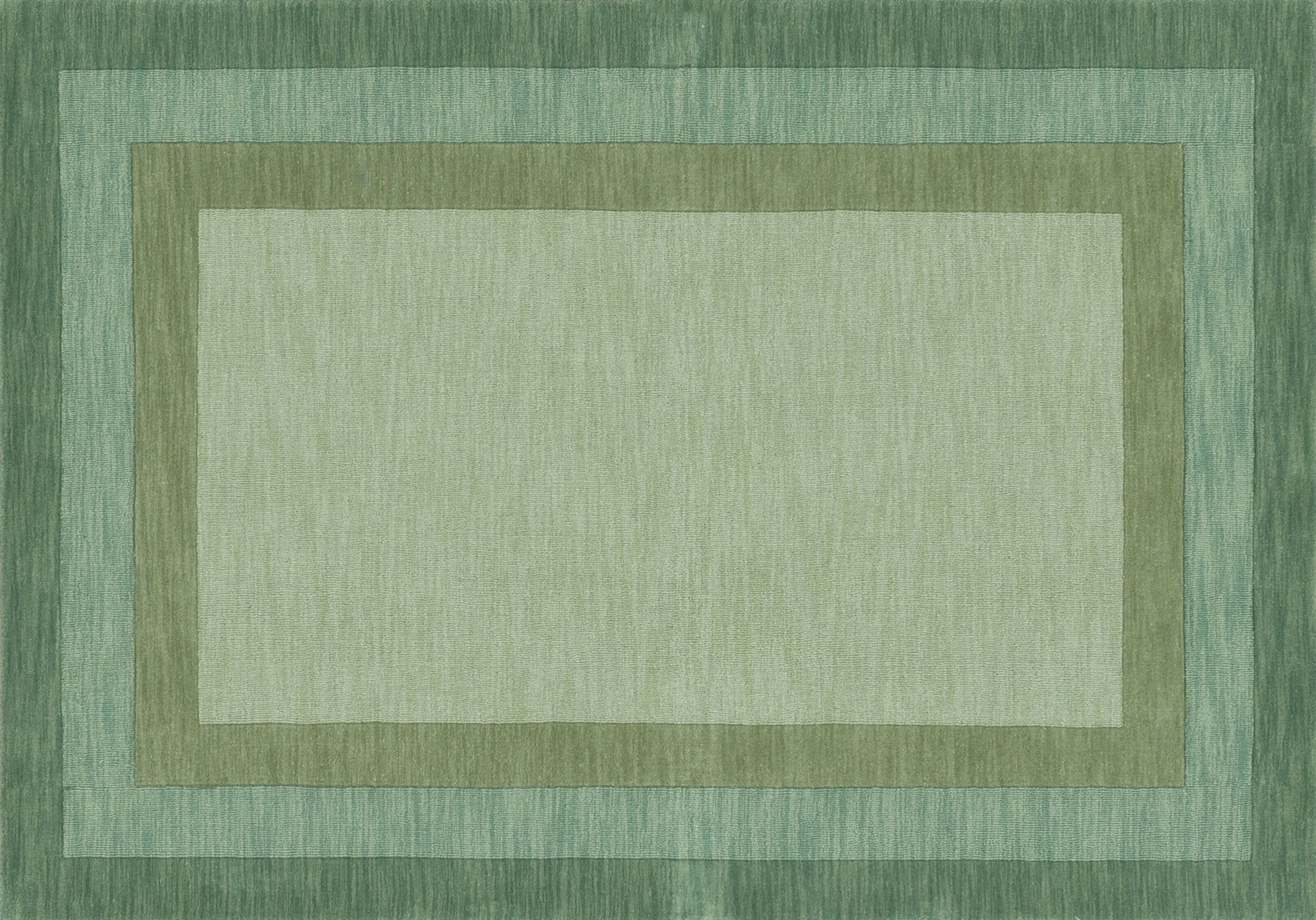 Keifer Hand-Tufted Green Area Rug Rug Size: Rectangle 3'6