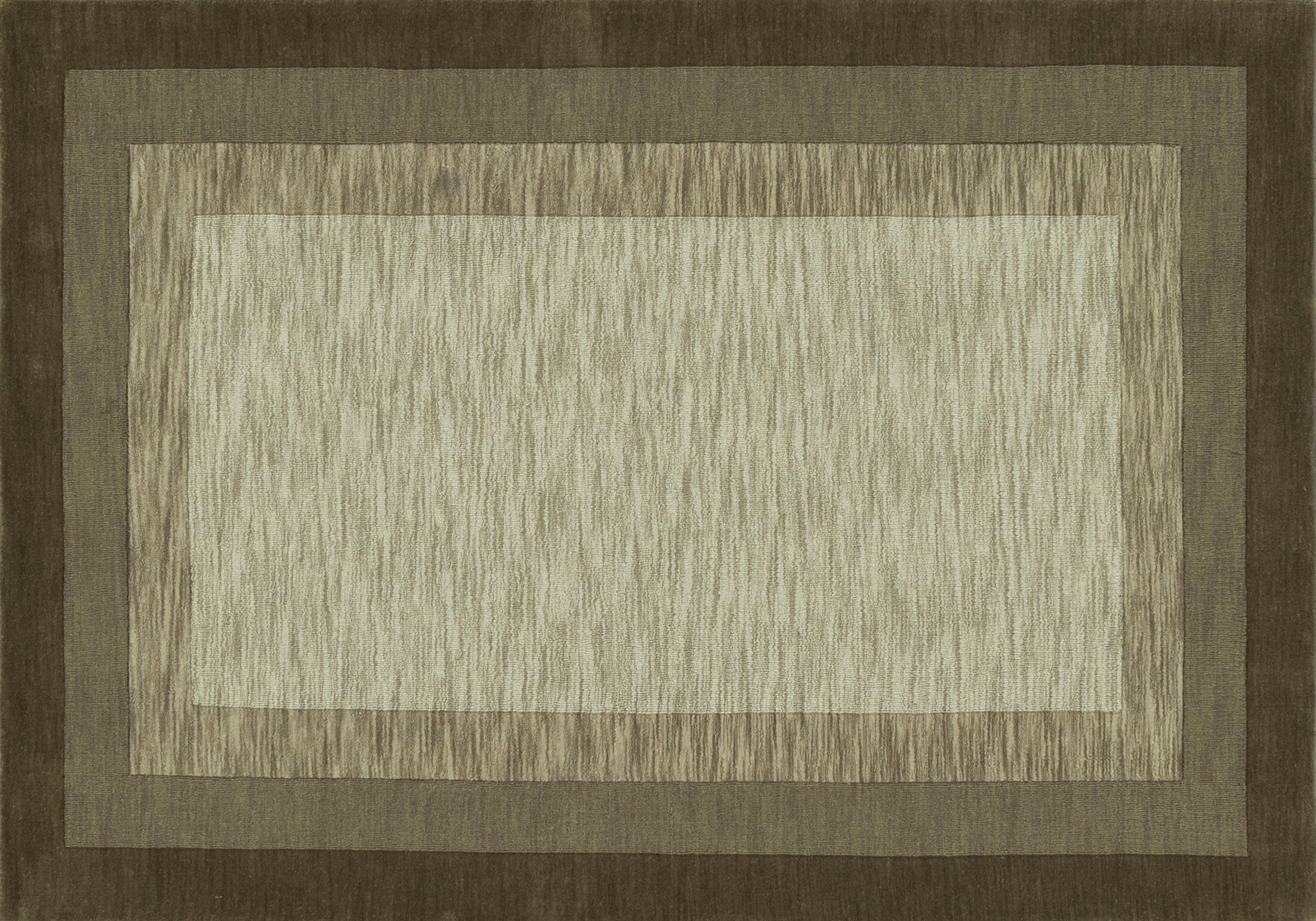 Keifer Hand-Tufted Brown/Tan Area Rug Rug Size: Rectangle 9'3