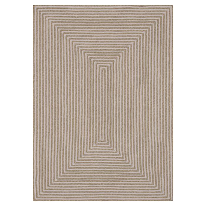 Kircher Hand-Woven Beige Indoor/Outdoor Area Rug Rug Size: Rectangle 5' x 7'6