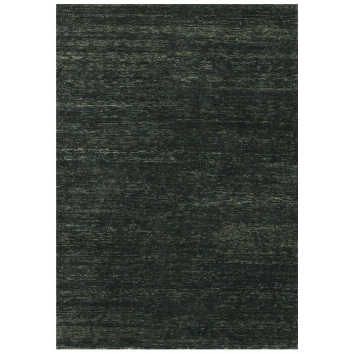 Avey Hand-Knotted Ebony Area Rug Rug Size: Rectangle 5'6