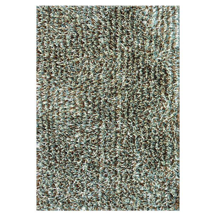 Ballif Hand-Tufted Blue/Mocha Area Rug Rug Size: Rectangle 3'6