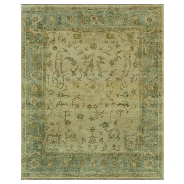 Brentwood Ivory/Blue Area Rug Rug Size: 7'9