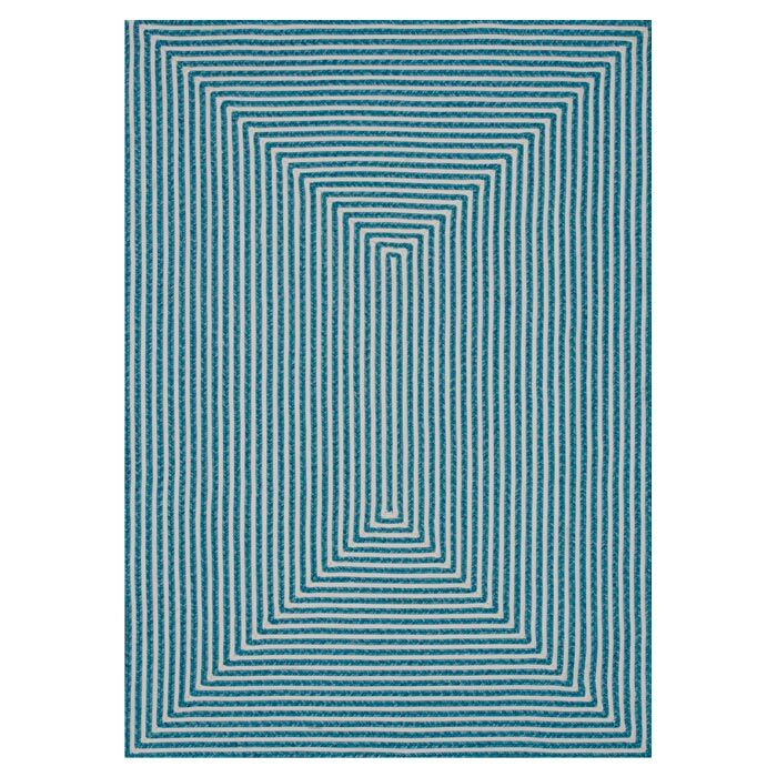 Gout Hand-Braided Blue Indoor/Outdoor Area Rug Rug Size: Rectangle 9'3