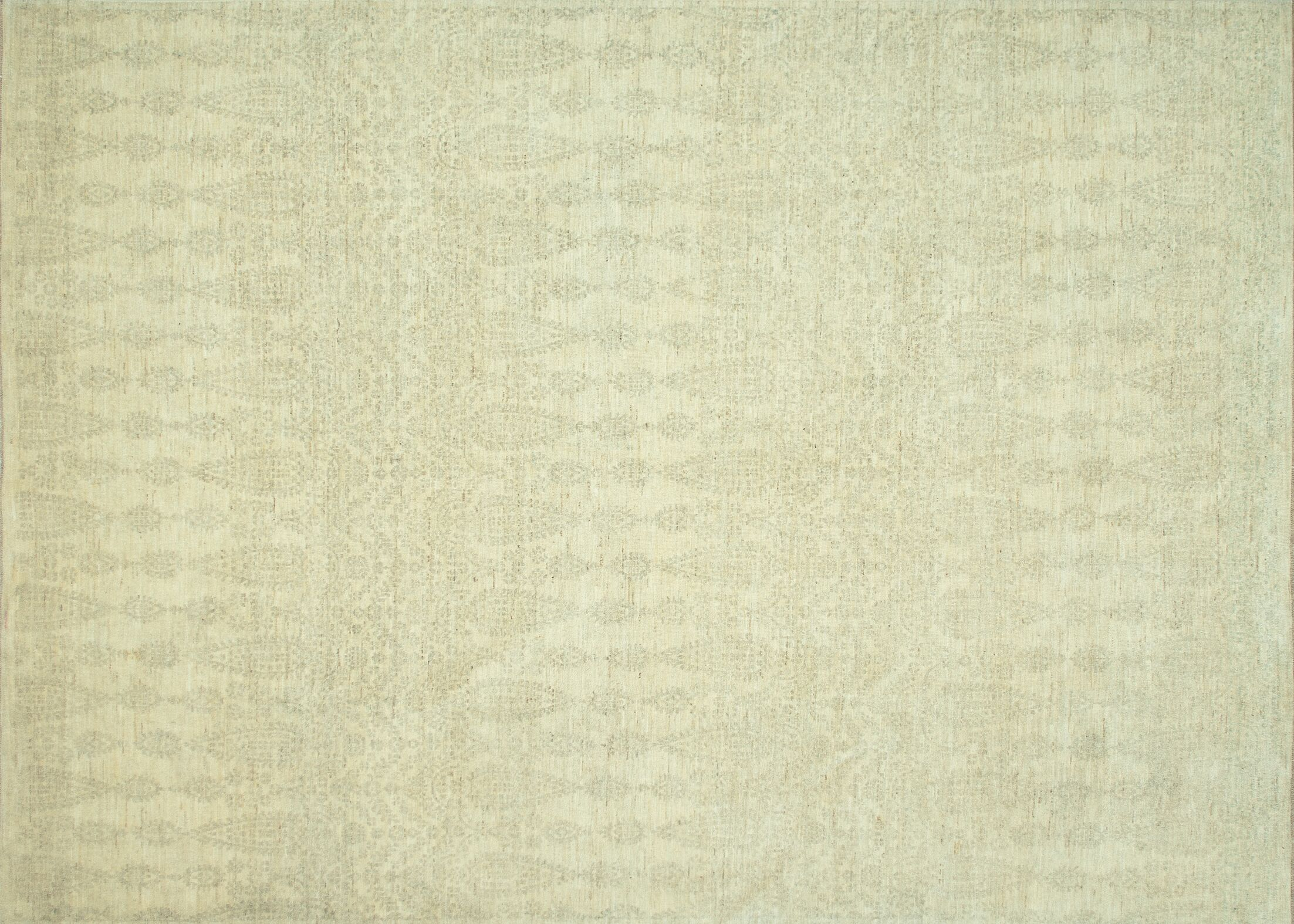 Kennith Hand-Knotted Ivory Area Rug Rug Size: Rectangle 7'9