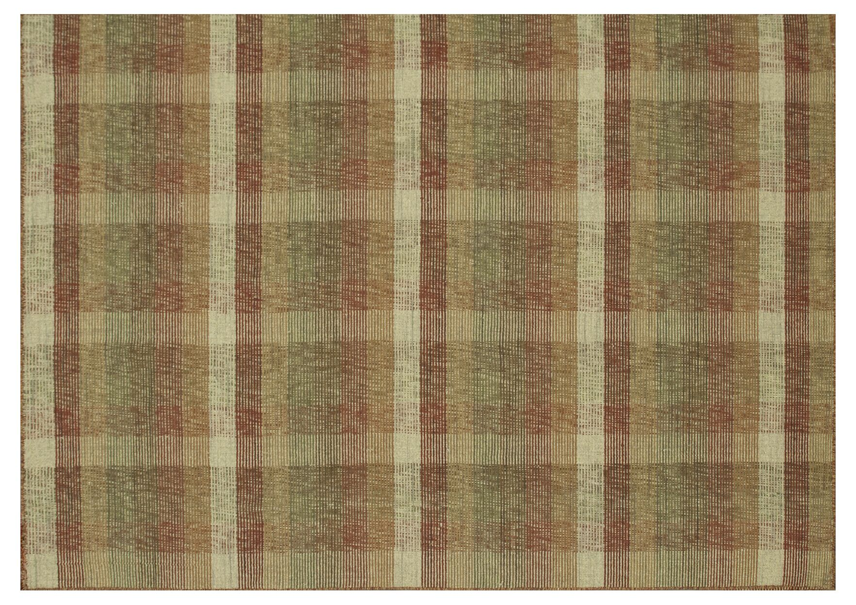 Naethe Hand-Woven Green/Red Area Rug Rug Size: Rectangle 5' x 7'6