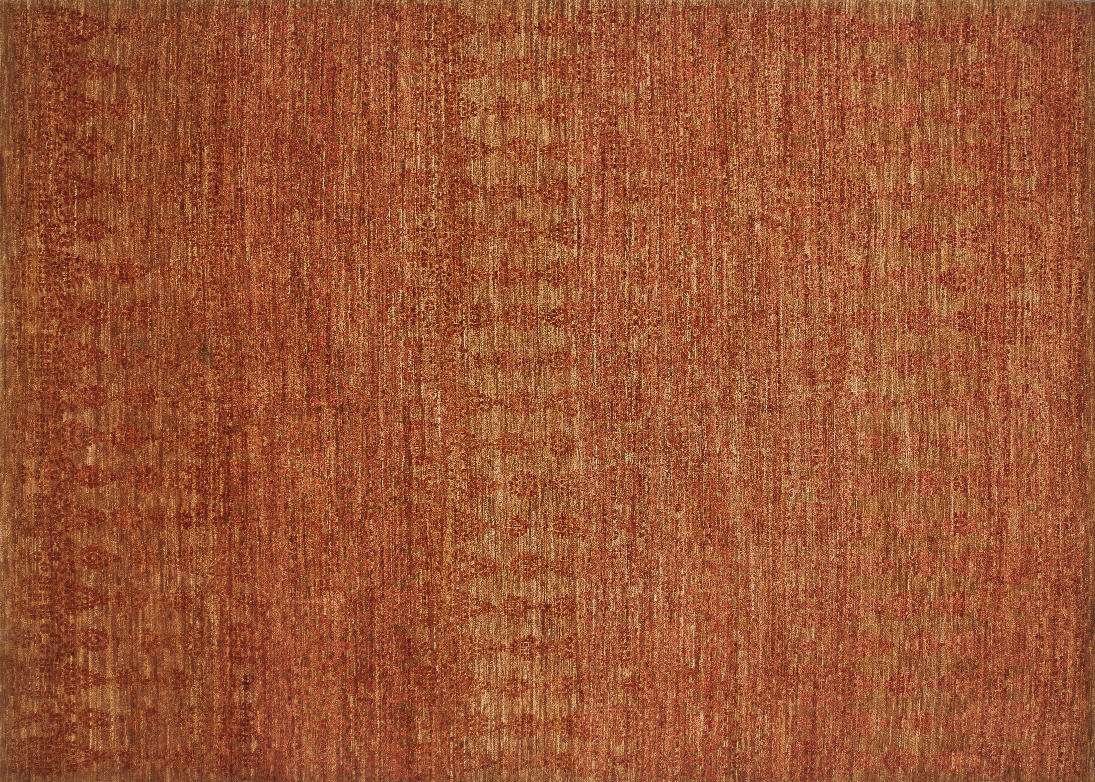 Kennith Hand-Knotted Paprika Area Rug Rug Size: Rectangle 4' x 6'