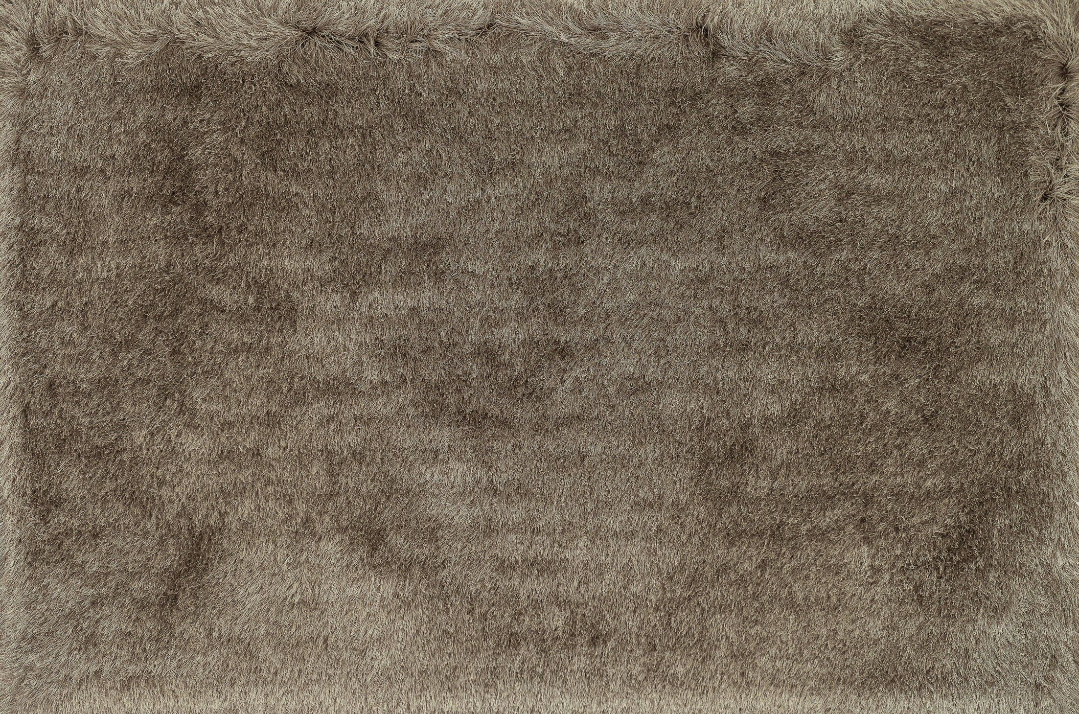 Hersi Hand-Tufted Taupe Area Rug Rug Size: Rectangle 3'6