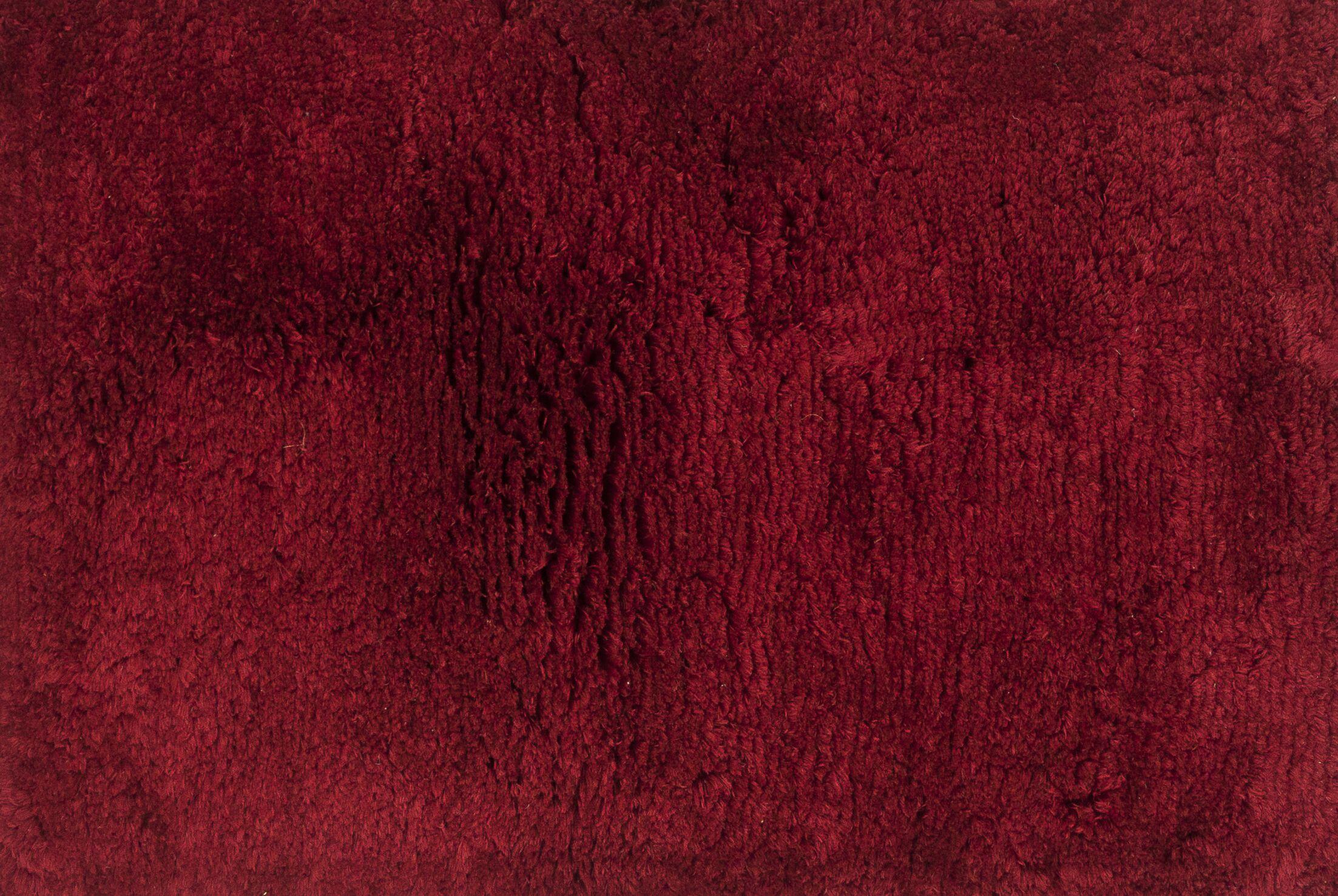 DeGennaro Hand-Tufted Crimson Area Rug Rug Size: Rectangle 9'3