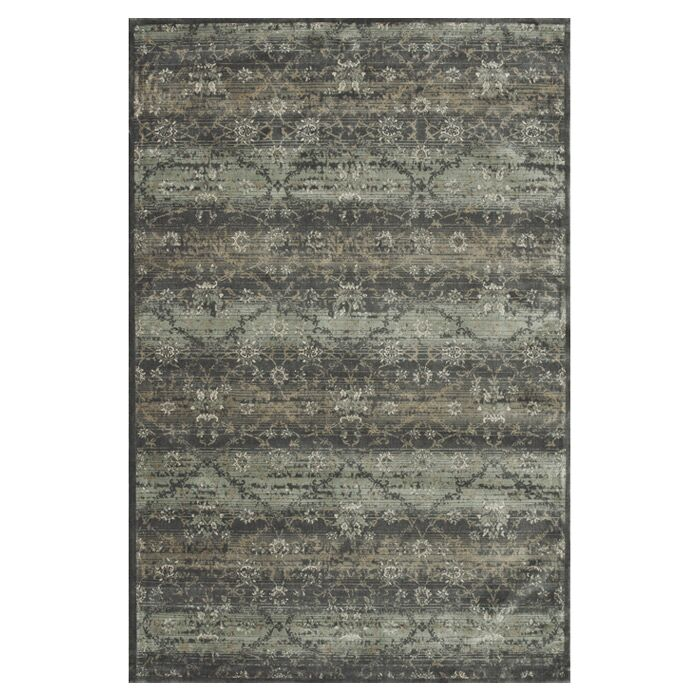 Keever Charcoal Area Rug Rug Size: Rectangle 7'6