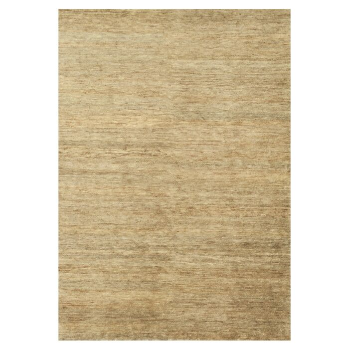 Avey Hand-Knotted Beige Area Rug Rug Size: Rectangle 7'9