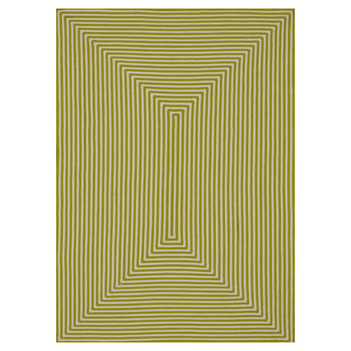 Kircher Hand-Woven Lime Indoor/Outdoor Area Rug Rug Size: Rectangle 7'6