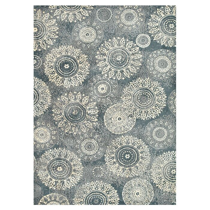 Keiper Charcoal/Beige Area Rug Rug Size: Rectangle 9'3