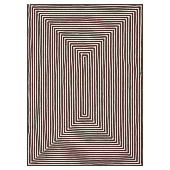 Kircher Hand-Woven Brown Indoor/Outdoor Area Rug Rug Size: Round 7'10
