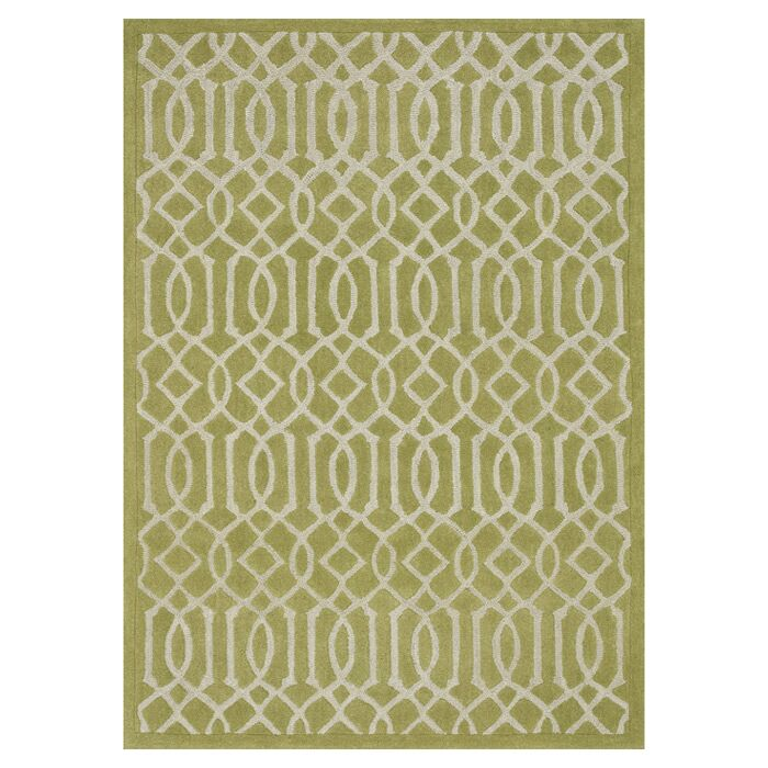 Dandridge Hand-Tufted Apple Green Area Rug Rug Size: Rectangle 7'10