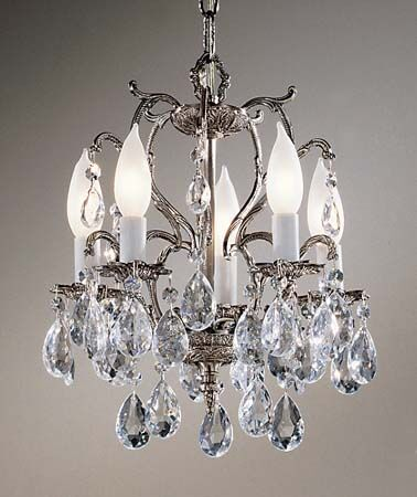 Barcelona 5-Light Candle Style Chandelier Finish: Millennium Silver, Crystal: Italian