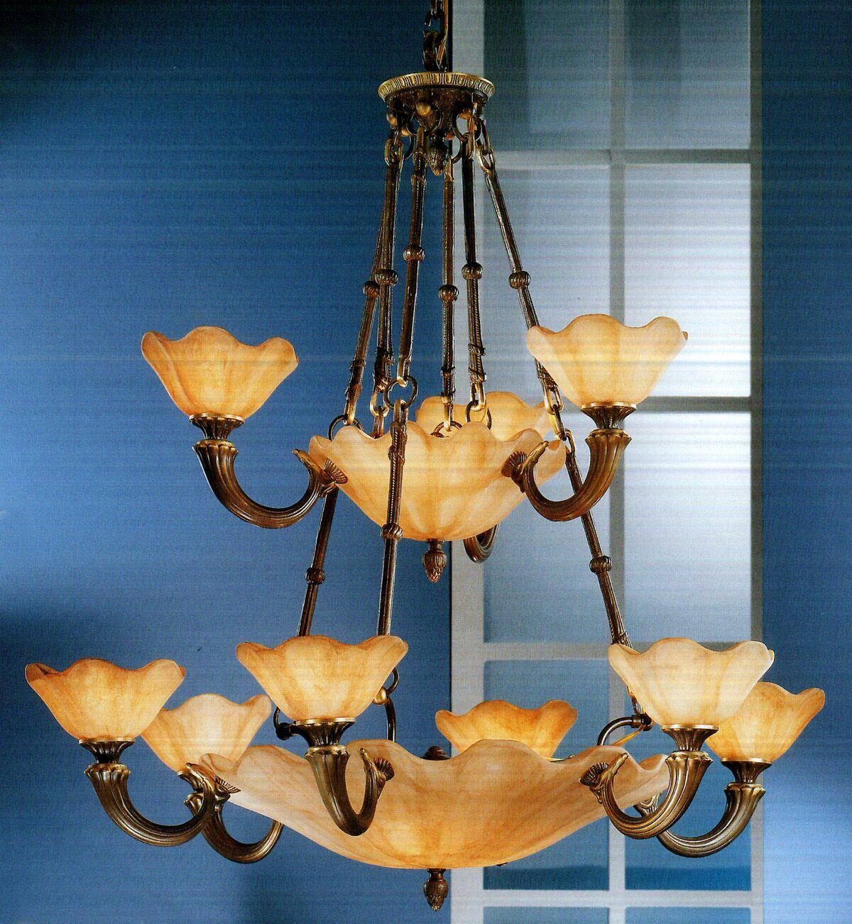 Atlantis 16-Light Shaded Chandelier Finish: Matte Bronze