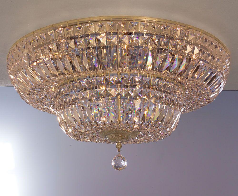 Empress 12-Light Flush Mount Crystal: Crystalique Plus