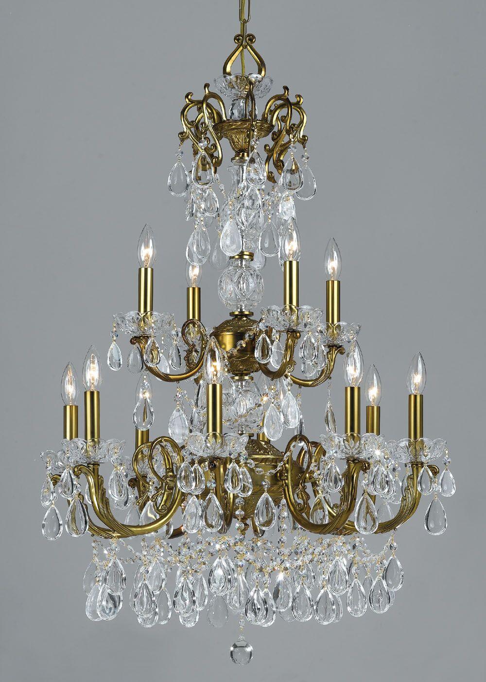 Vienna Palace 12-Light Candle Style Chandelier Finish: Renovation Brass