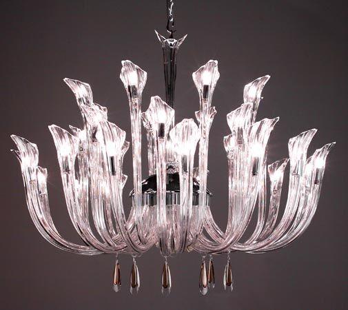 Inspiration 32-Light Shaded Chandelier Crystal: Golden Teak