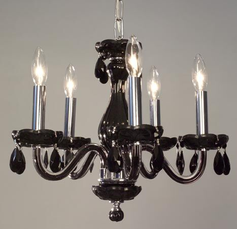 Monaco 5-Light Candle Style Chandelier Finish: White, Crystal: Crystalique-Plus