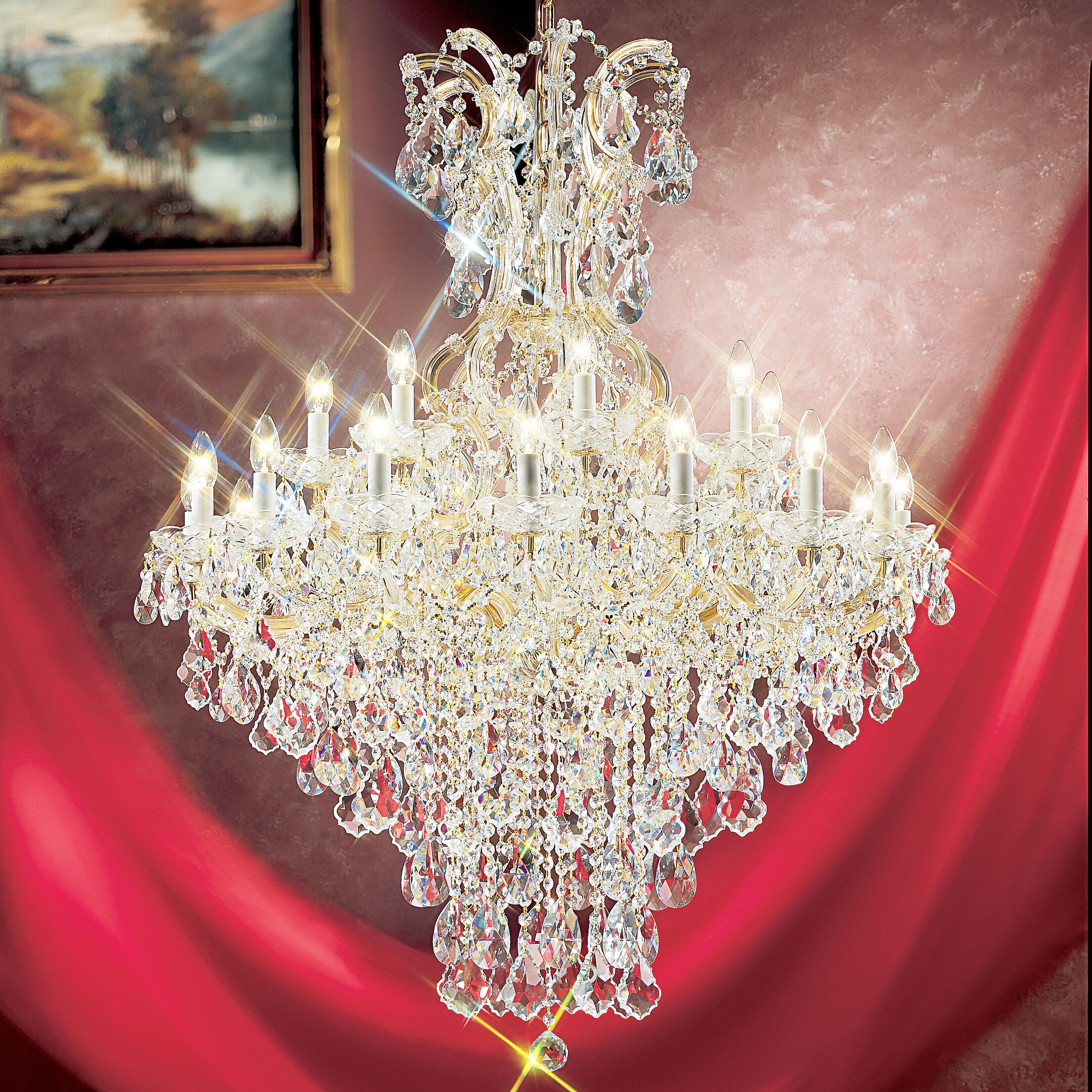 Maria Thersea 25-Light Empire Chandelier Crystal Type: Swarovski Elements, Finish: Olde World Gold