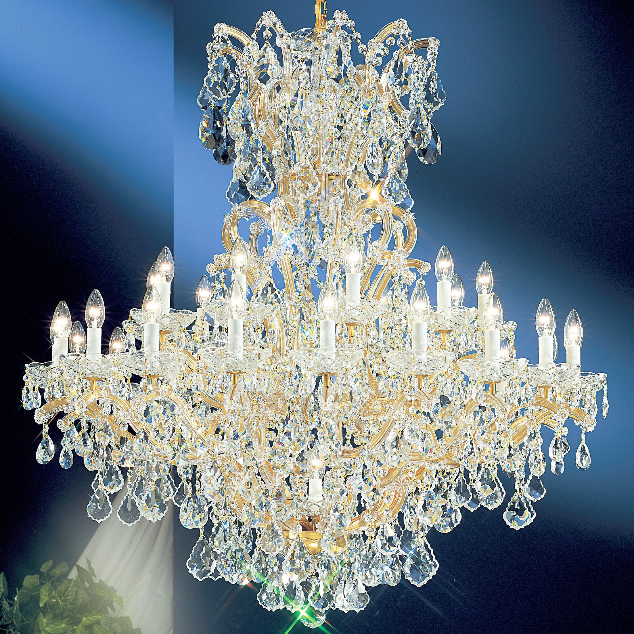 Maria Thersea 31-Light Empire Chandelier Finish: Chrome, Crystal Type: Swarovski Elements