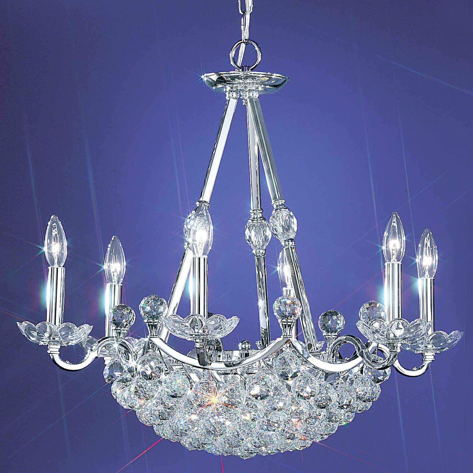Solitaire 12-Light Candle Style Chandelier Crystal Grade: Swarovski Spectra