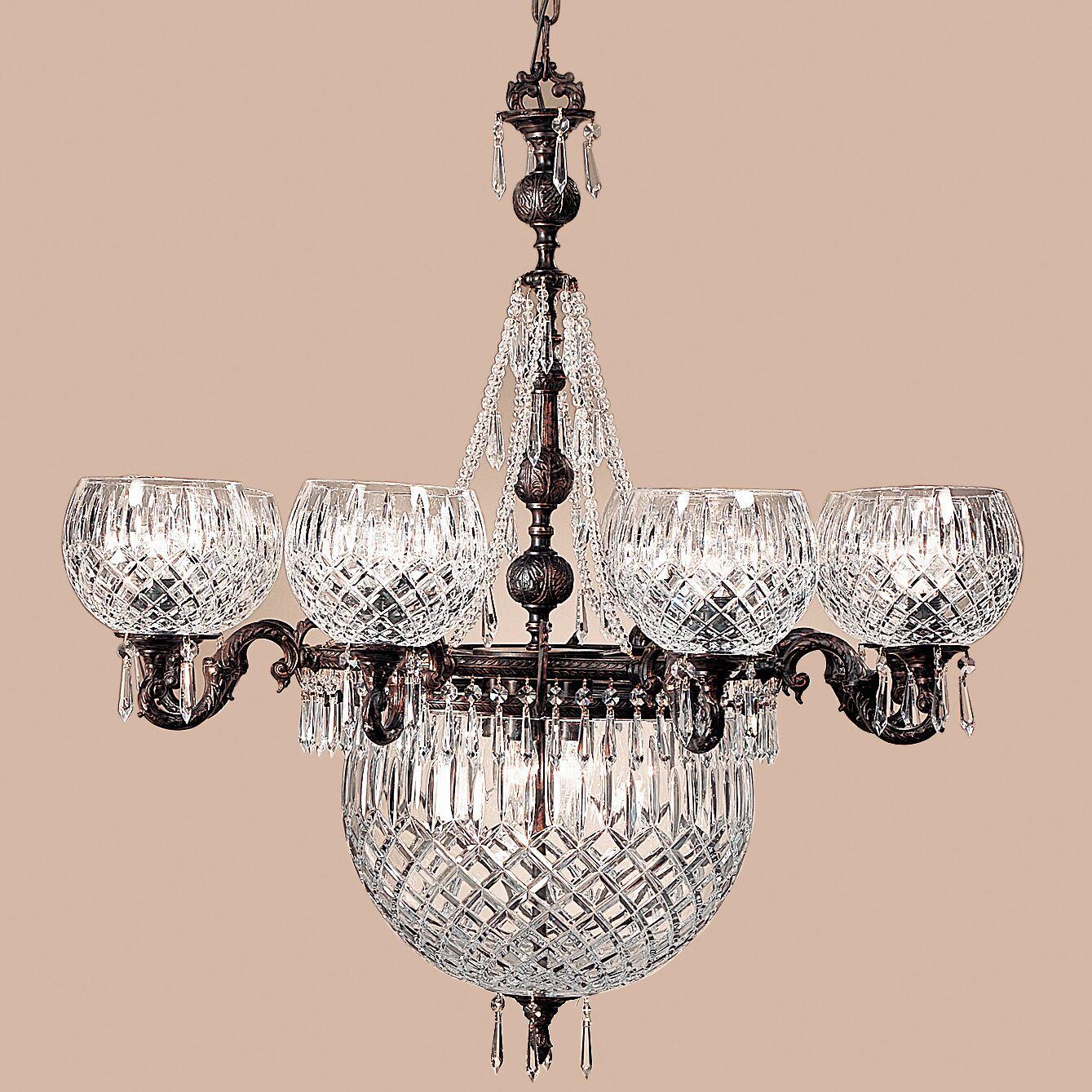 Waterbury 12-Light Shaded Chandelier Crystal Color: Crystalique Black