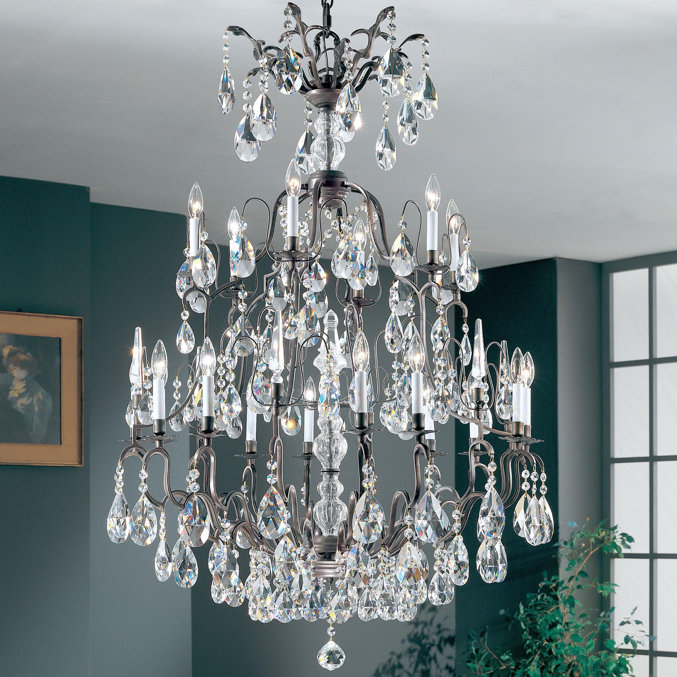 Versailles 19-Light Candle Style Chandelier Crystal Type: Swarovski Elements