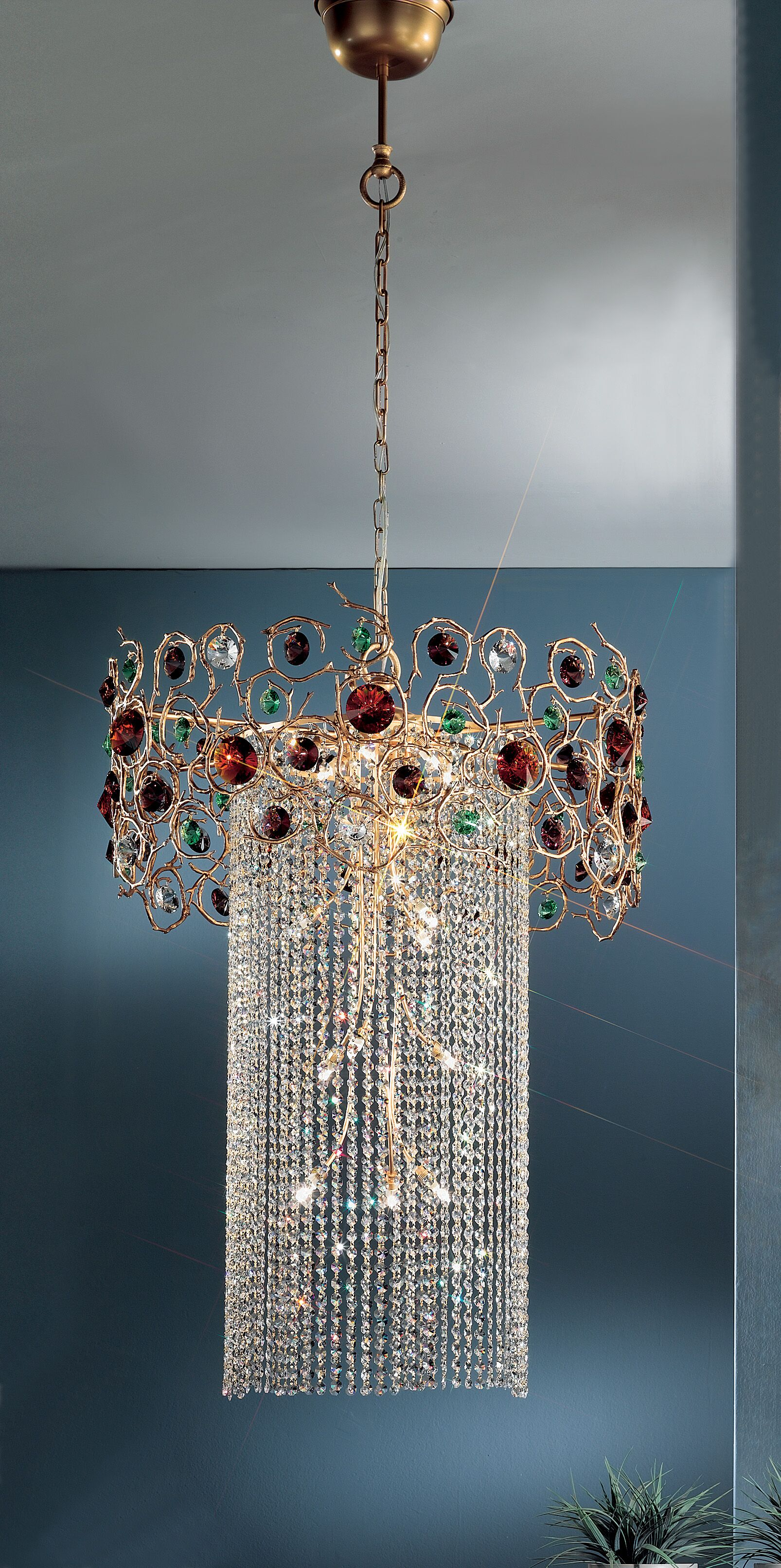 Foresta Colorita 15-Light Chandelier Finish: Silver Frost, Crystal Type: Crystalique