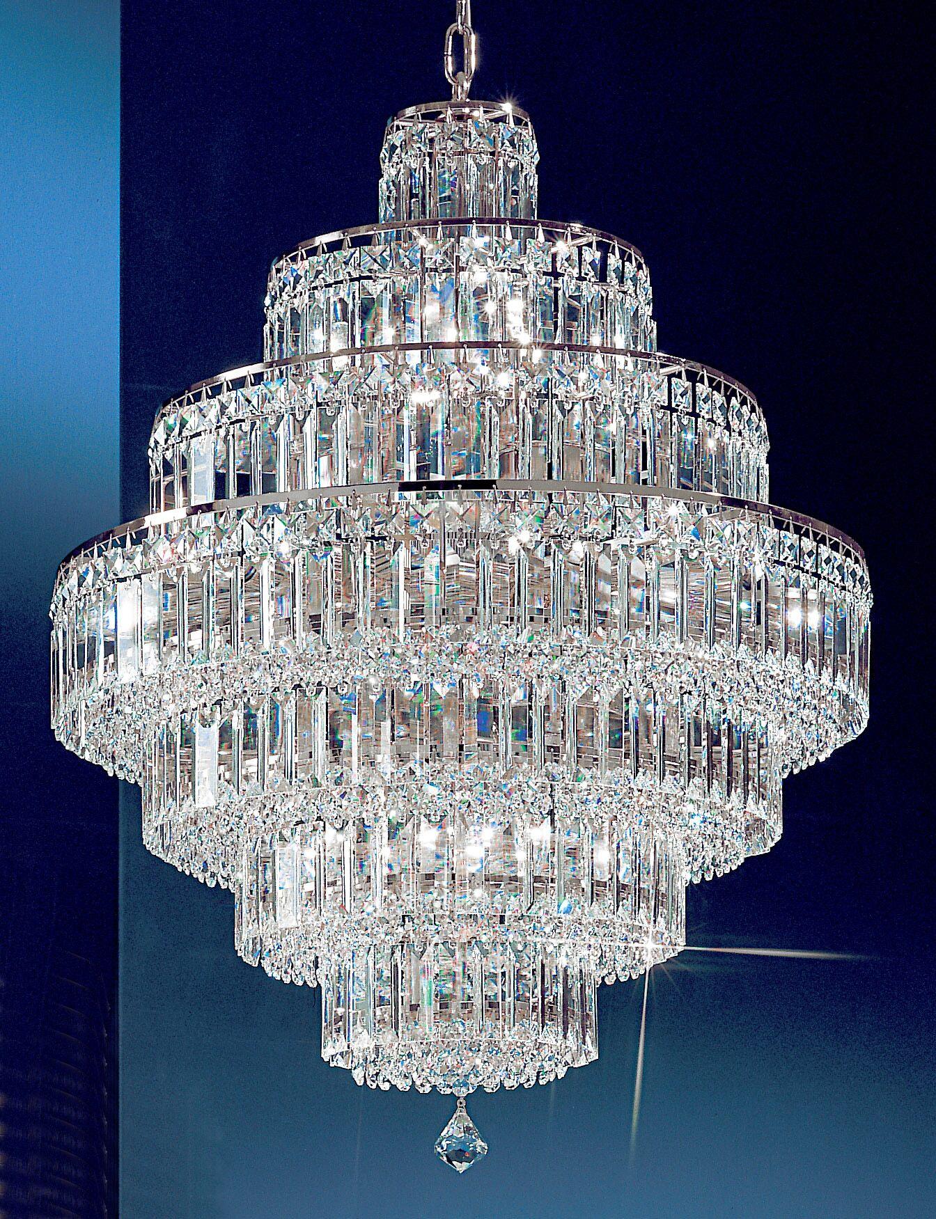 Ambassador 18-Light Chandelier Crystal Type: Swarovski Elements, Finish: 24k Gold Plate