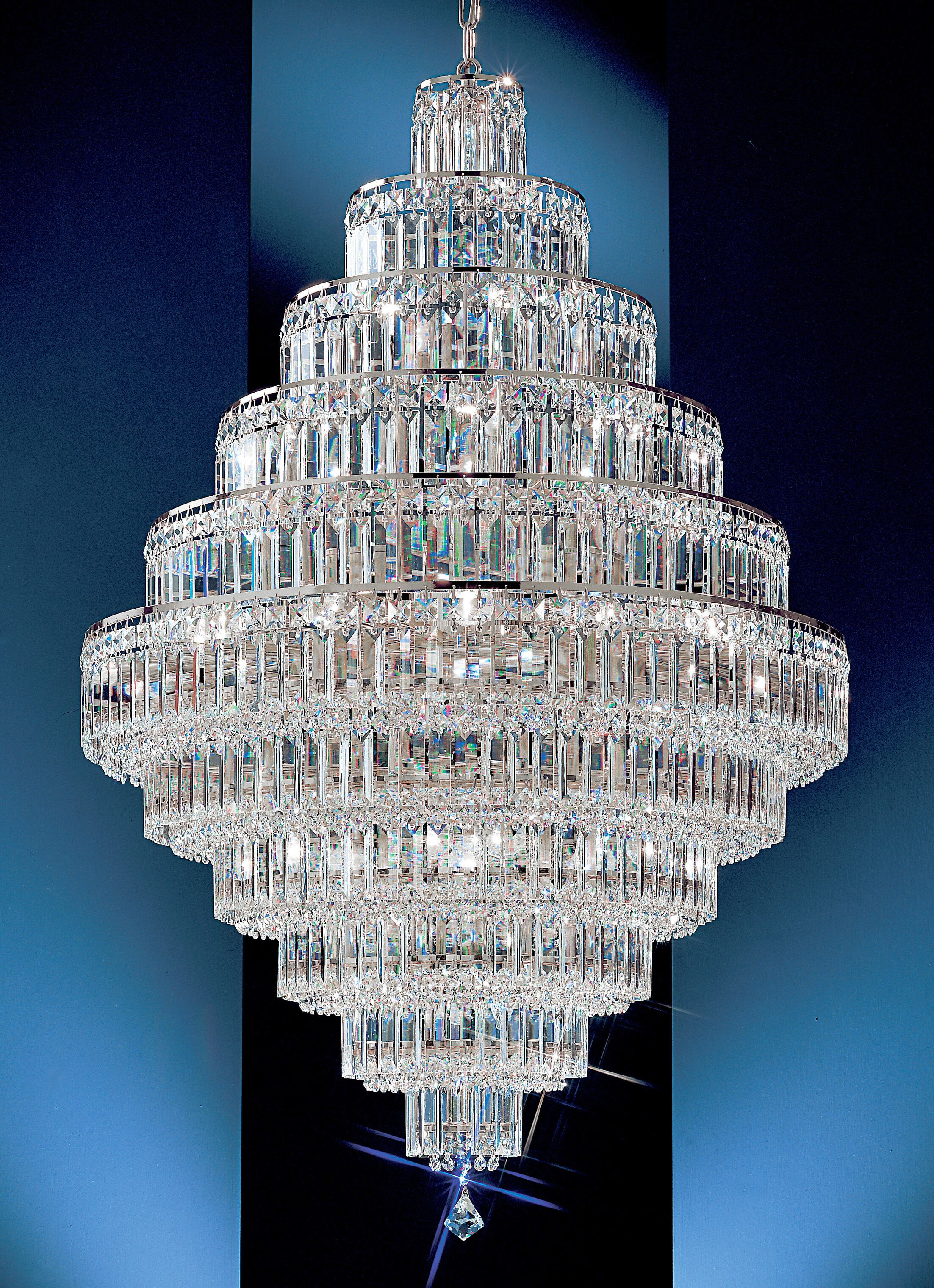 Ambassador 30-Light Chandelier Crystal Type: Swarovski Elements, Finish: 24k Gold Plate