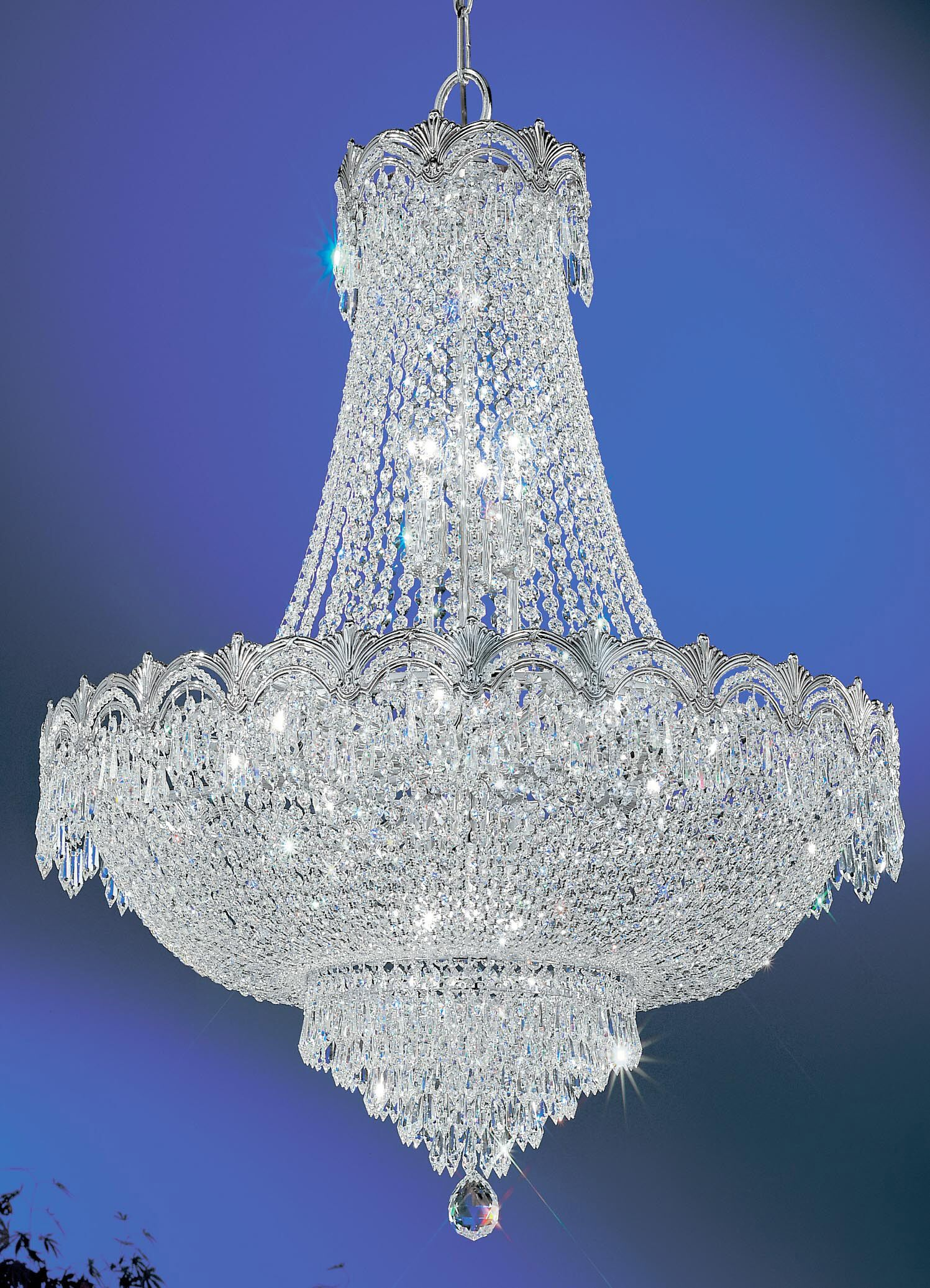 Regency II 9-Light Chandelier Finish: Chrome with Black patina, Crystal Type: Swarovski Strass Spectra No Lead Crystal