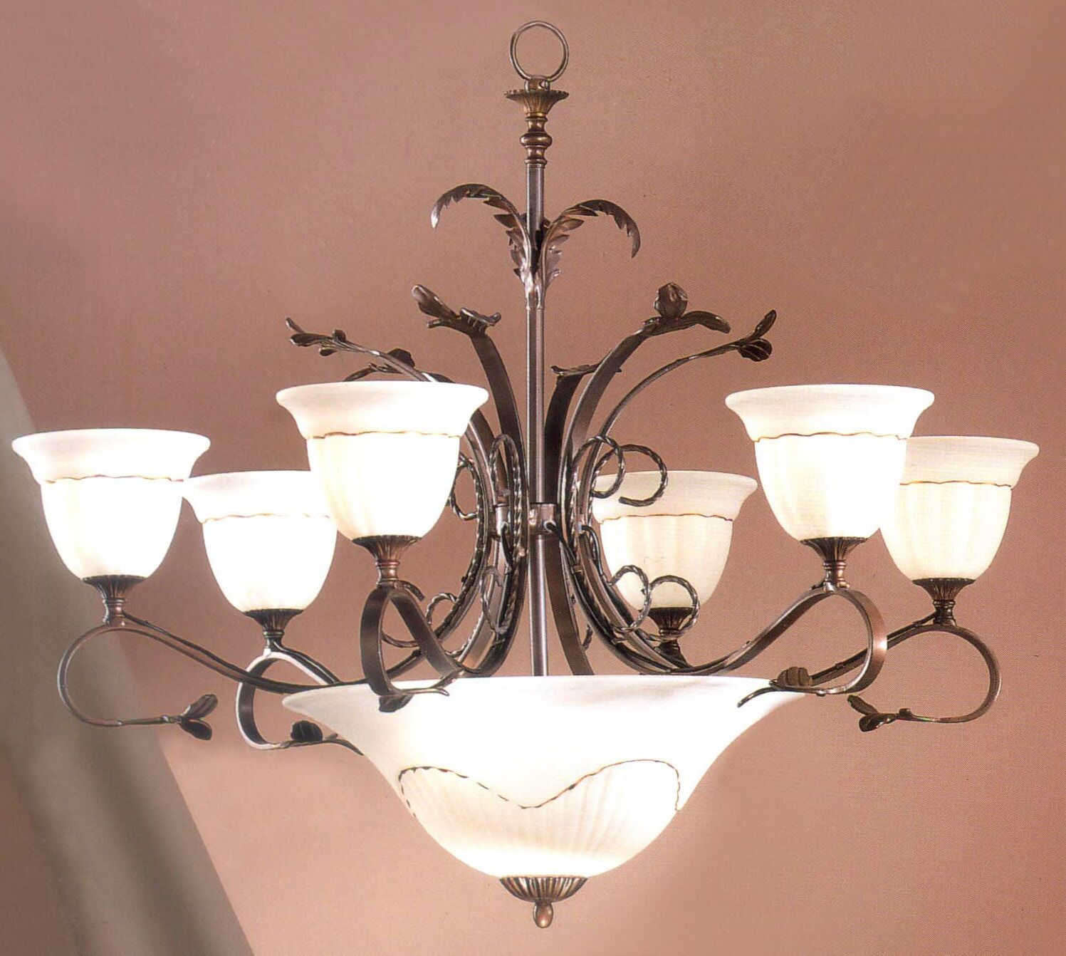 Treviso 9-Light Shaded Chandelier Finish: Bronze
