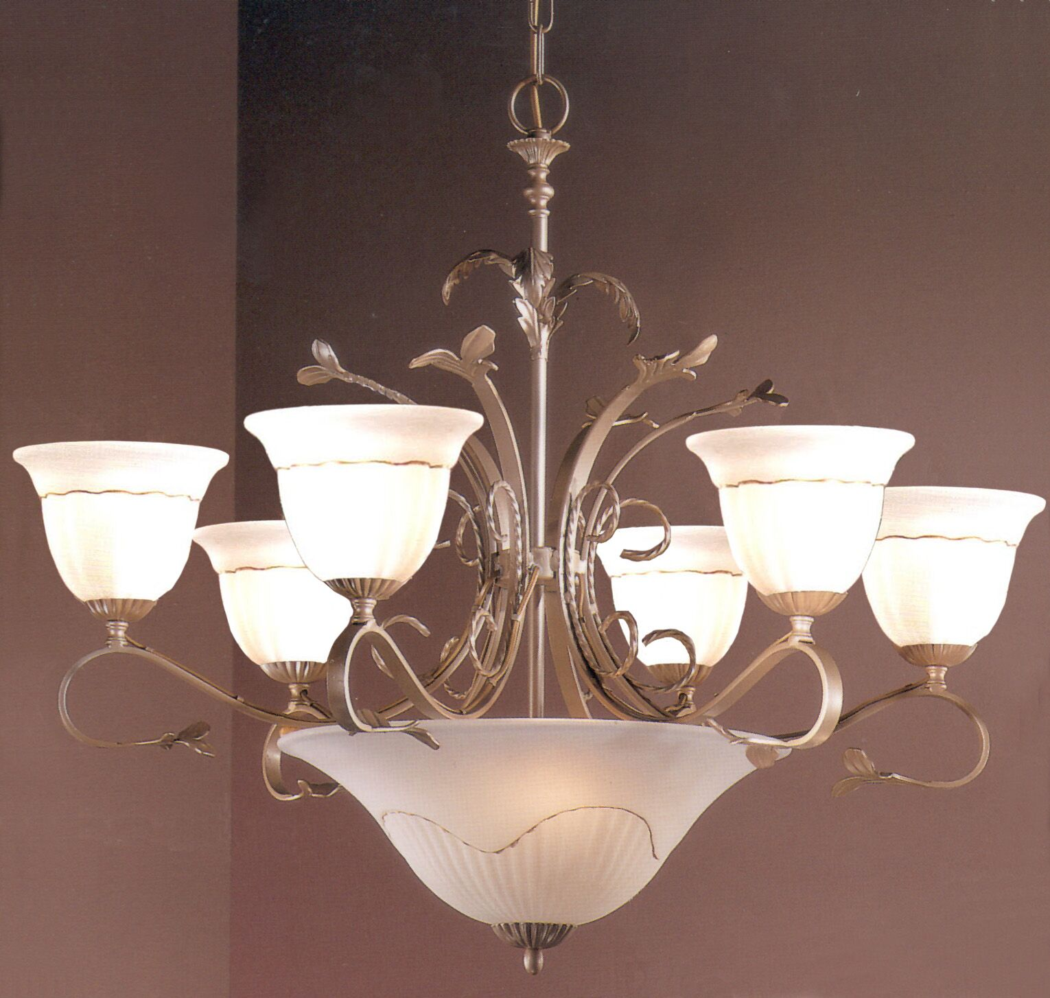 Treviso 9-Light Shaded Chandelier Finish: Pearlized Gold