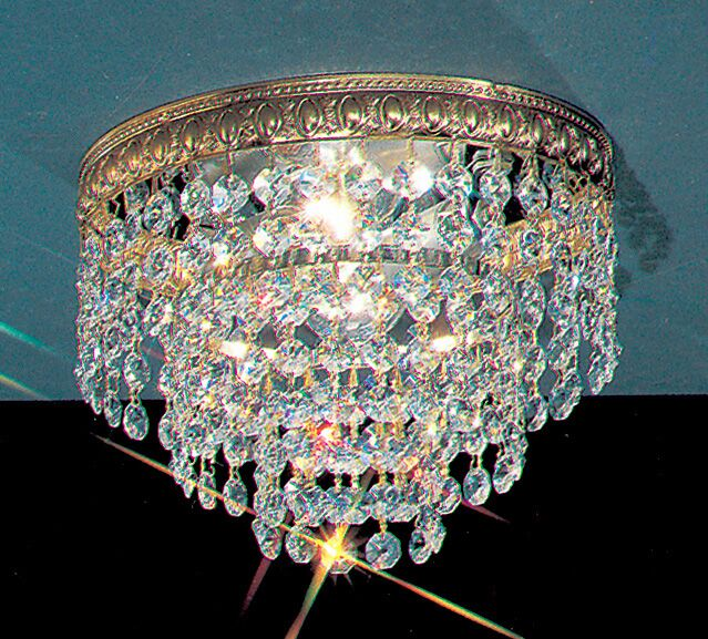 Genevieve Crystal Light Semi-Flush Mount Crystal Type: Swarovski Spectra, Size: 9