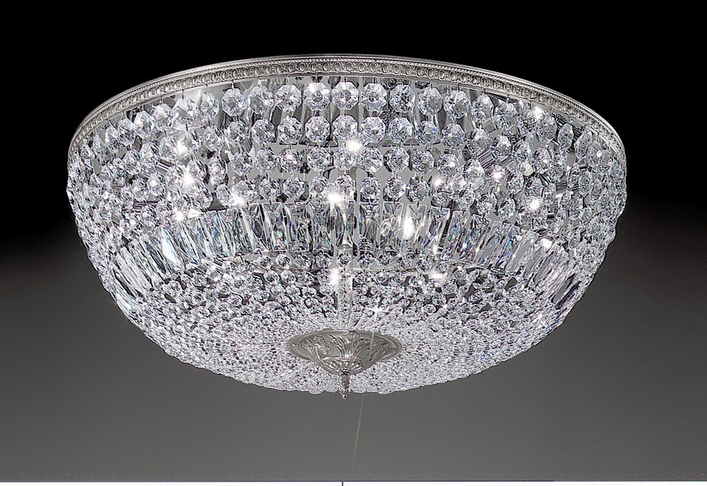 Genevieve 10-Light Semi-Flush Mount Crystal Type: Crystalique-Plus, Finish: Olde World Bronze