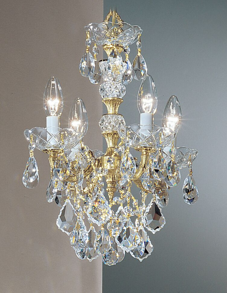 Madrid Imperial 4-Light Candle Style Chandelier Finish: Olde World Bronze, Crystal Type: Swarovski Elements
