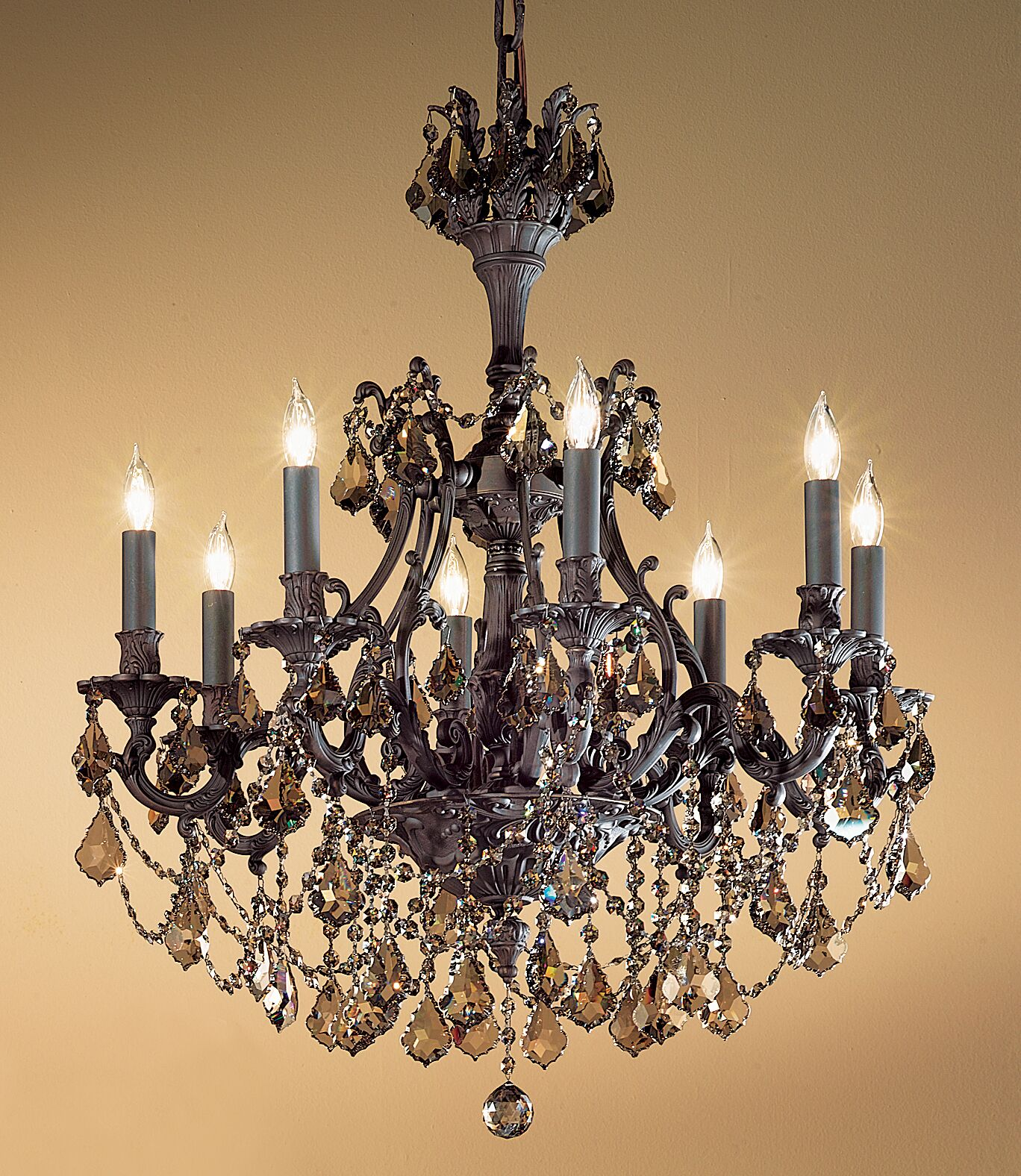 Majestic Imperial 8-Light Candle Style Chandelier Finish: Aged Bronze, Crystal Type: Crystalique-Plus