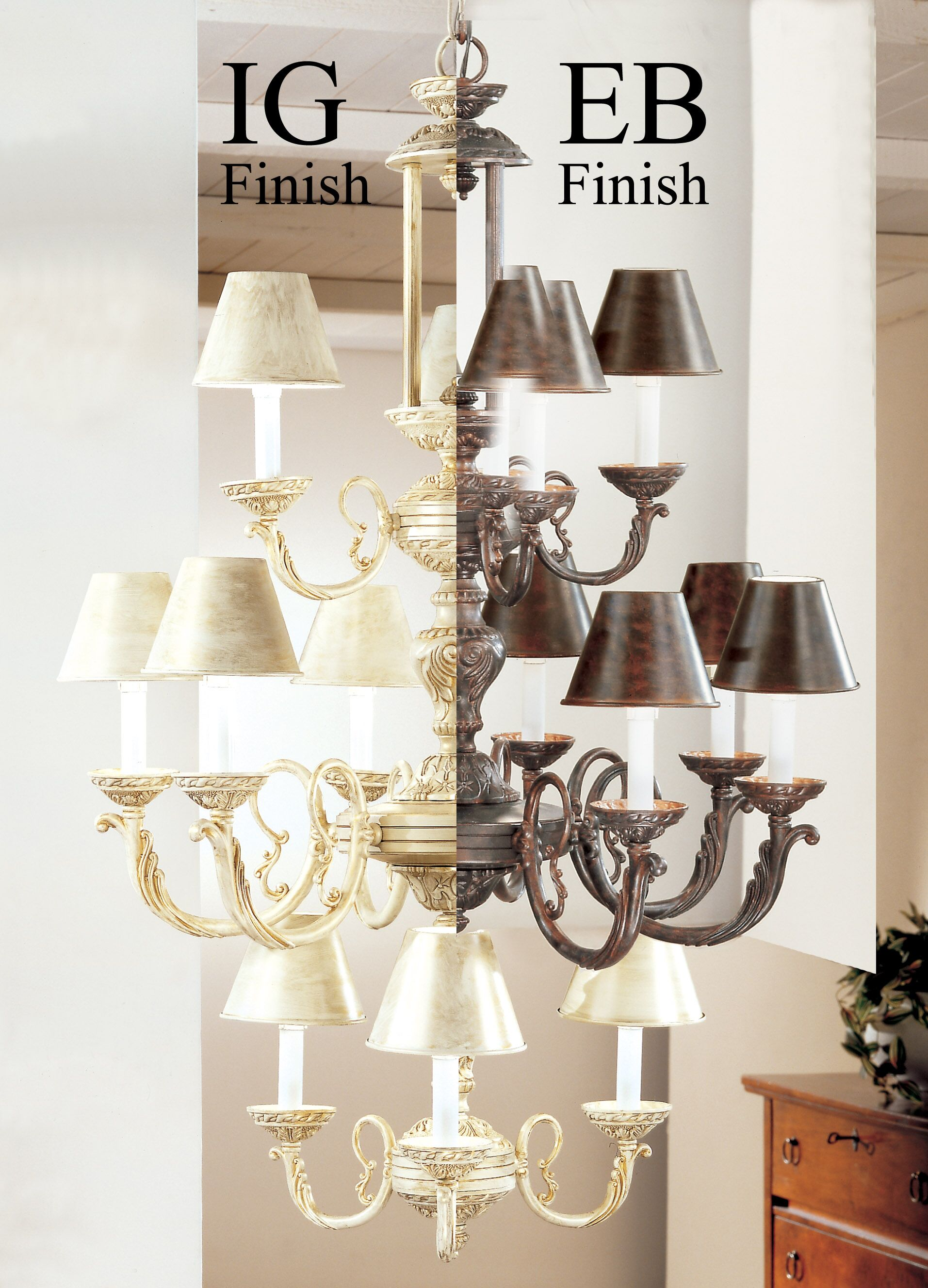 Innsbrook 12-Light Shaded Chandelier Finish: English Bronze